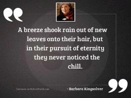 A breeze shook rain out
