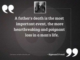 A father's death is