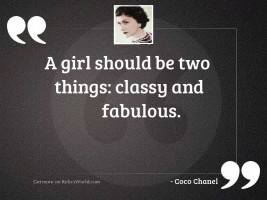 A girl should be two