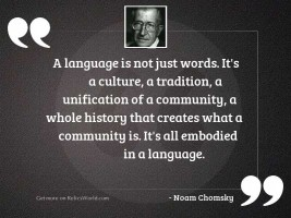 A language is not just