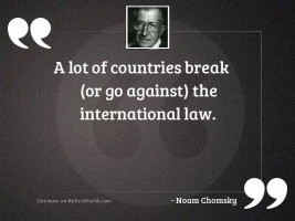 A lot of countries break (