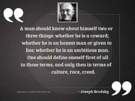 A man should know about