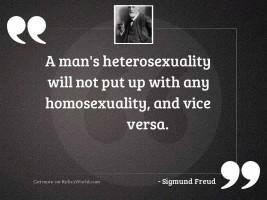 A man's heterosexuality will