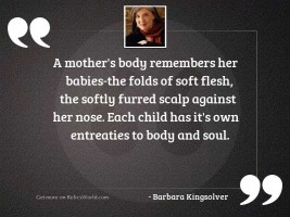 A mother's body remembers