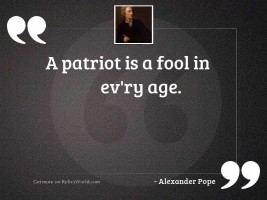 A patriot is a fool