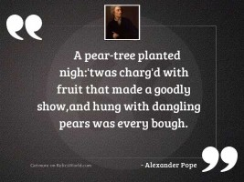 A pear tree planted nigh:'