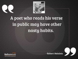 A poet who reads his