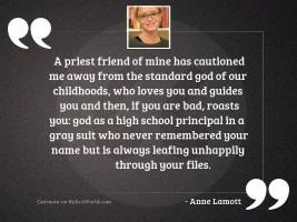 A priest friend of mine
