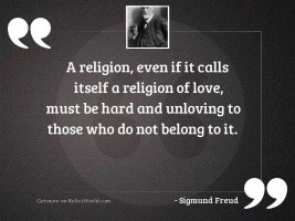 A religion, even if it