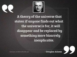 A theory of the universe