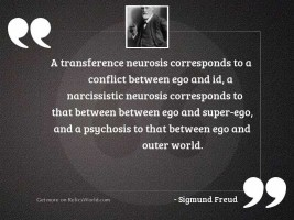 A transference neurosis corresponds to