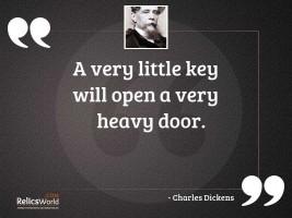 A very little key will