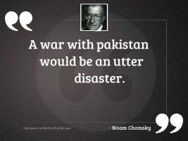 A war with Pakistan would
