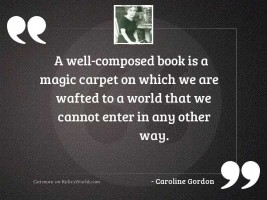 A well-composed book is
