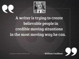 A writer is trying to