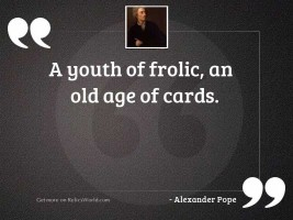A youth of frolic, an