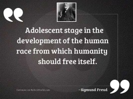 Adolescent stage in the development