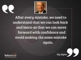 After every mistake we need