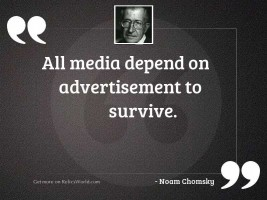 All media depend on advertisement