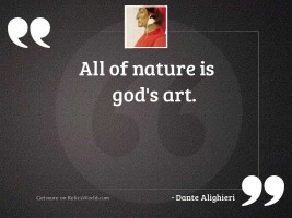 All of nature is Gods