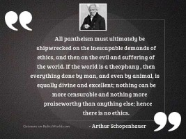 All pantheism must ultimately be