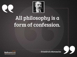 All philosophy is a form