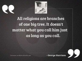 All religions are branches of