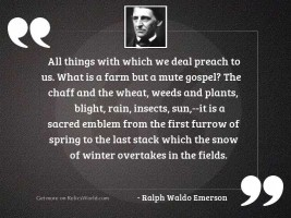 All things with which we