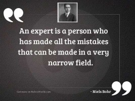 An expert is a person