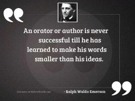 An orator or author is