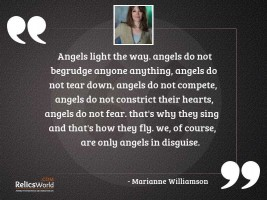 Angels light the way Angels