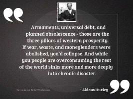 Armaments, universal debt, and planned