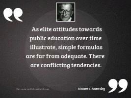 As elite attitudes towards public