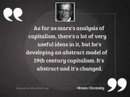 As far as Marx's