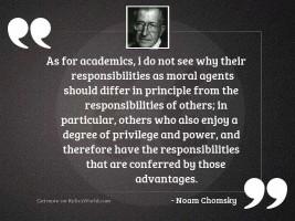 As for academics, I do