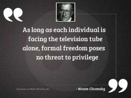 As long as each individual