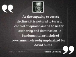 As the capacity to coerce