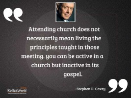Attending church does not necessarily