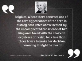 Belgium where there occurred one