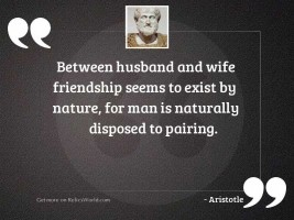 Between husband and wife friendship