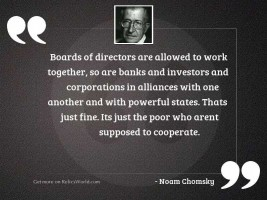 Boards of directors are allowed