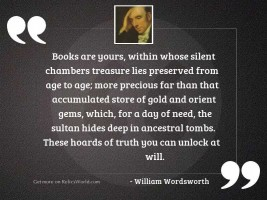 Books are yours, Within whose