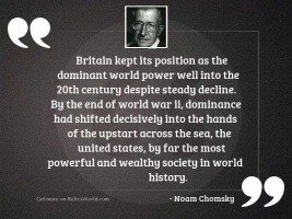 Britain kept its position as