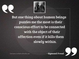 But one thing about human