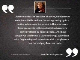 Children model the behavior of