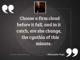 Choose a firm cloud before
