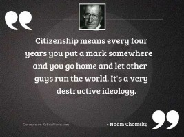 Citizenship means every four years