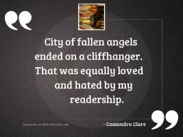 City of Fallen Angels ended