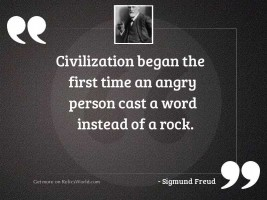 Civilization began the first time