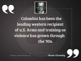 Colombia has been the leading